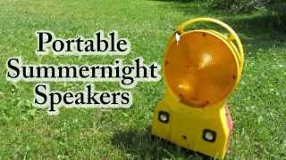 """This video shows my homemade diy portable speakers inside a construction sight lantern!Check out my website for further information: http://www.doityourselfgadgets.comPlease subscribe to my channel for future projects!My Channel: http://www.youtube.com/user/TheLiquiderMy Website:http://www.doityourselfgadgets.com/Like me on facebook: http://www.facebook.com/DIYTechgadgetsMusic used:Licensed under Creative Commons Attribution 4.0 International (http://creativecommons.org/licenses/by/4.0/)MachinimaSound.com/music/remeberthedreams - """"Remember the dreams"""" www.machinimasounds.com/music/milkshake - """"Milkshake""""www.machinimasound.com/music/danceofthepixies - """"Dance of the pixies""""© by Doityourselfgadgets"""