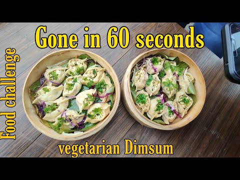 DimSum( Momo's) Food Challenge | Hmm vs Sadi Gaddi | Gone In 60 Seconds