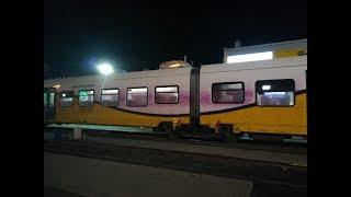 Wandal pomalował pociąg pędzący 130 km/h. Odpowiednio się do tego przygotował
