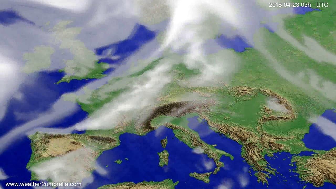 Cloud forecast Europe 2018-04-20