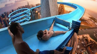 Video Top 10 MOST INSANE BANNED Waterslides YOU CAN'T GO ON ANYMORE! MP3, 3GP, MP4, WEBM, AVI, FLV Januari 2019