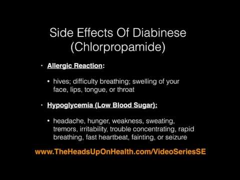 Side Effects Of Metformin gluchophage and Diabinese Chlorpropamide