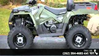 8. 2015 Polaris Sportsman X2 570 EPS Sage Green  - Action Po...