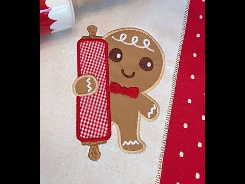 Embroidery Garden Gingerbread Man Appliques
