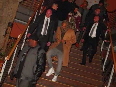 Rihanna and Chris Brown After Nightclub in berlin, Go in Hotel 11/22/2012