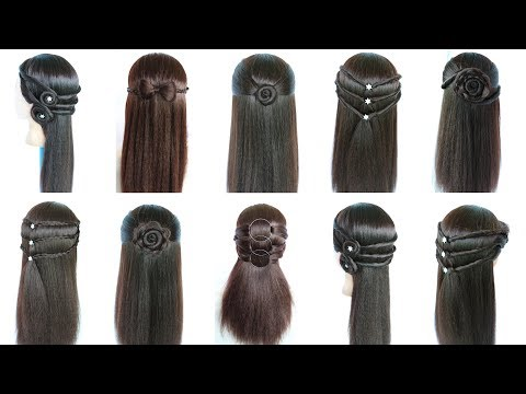 Easy hairstyles - easy and beautiful hairstyles for girls  hair style girl  hairstyles for girls  hairstyle