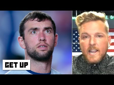 Video: Pat McAfee: Andrew Luck was in a scary situation with the Colts' abysmal offensive line | Get Up