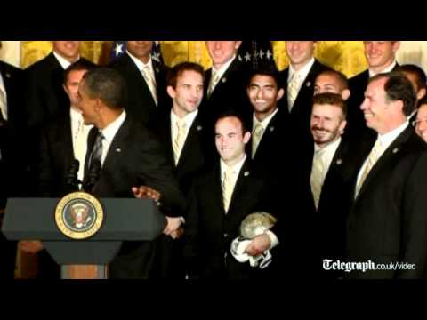 Obama Welcomes Beckham, Galaxy to White House