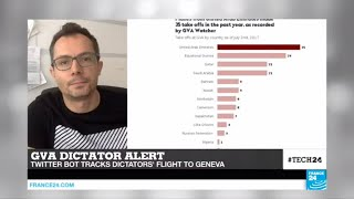 Subscribe to France 24 now:http://f24.my/youtubeENFRANCE 24 live news stream: all the latest news 24/7http://f24.my/YTliveEN#Tech24: Switzerland creates a twitter bot tracking dictators'' flights to GenevaVisit our website:http://www.france24.comSubscribe to our YouTube channel:http://f24.my/youtubeENLike us on Facebook:https://www.facebook.com/FRANCE24.EnglishFollow us on Twitter:https://twitter.com/France24_en