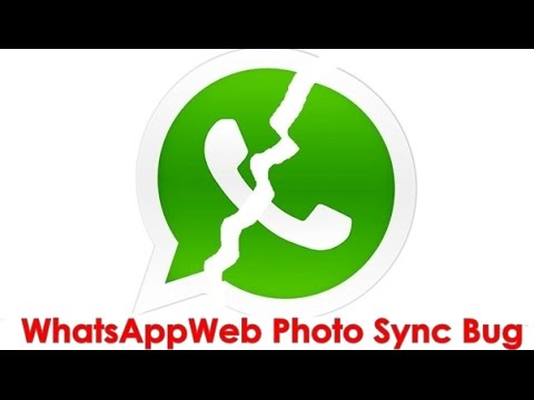 WhatsApp Web Photo Sync Bug