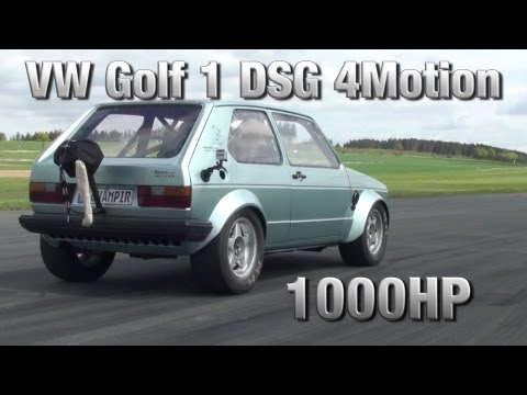 What Does it Look Like When a VW Golf Gets 1000 Horsepower?