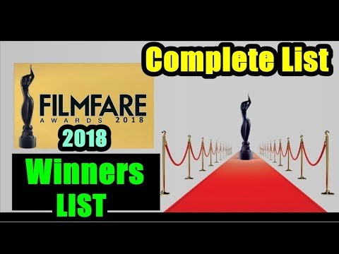 Filmfare Awards 2018 Winners Complete List