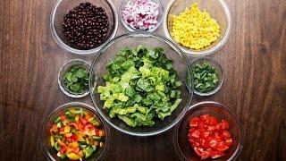Southwestern Salad With Avocado Dressing by Tasty