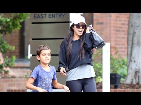 Kourtney Kardashian Steps Out With Mason After Reuniting With Scott Disick