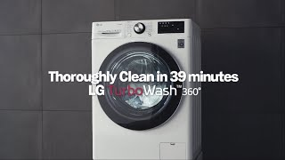 The NEW LG Washing Machine – TURBOWASH360