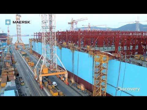 Строительство 400-метрового судна Maesk  - Центр транспортных стратегий