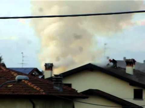 Incendio a Brebbia