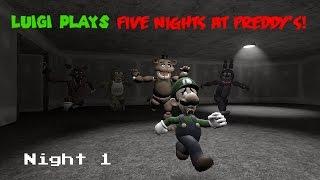 Luigi Plays Five Nights at Freddy's! (Night 1)