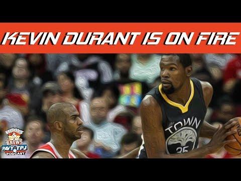 Kevin Durant Offensive Juggernaut | #HoopsNBrews