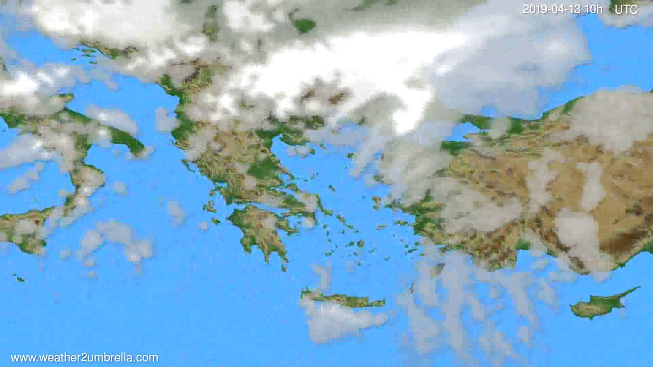Cloud forecast Greece // modelrun: 00h UTC 2019-04-11