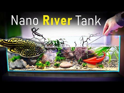Building a NANO RIVER TANK w/ Fast Flow! (part 2) Planting | MD Fish Tanks