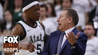 Izzo and Cassius Winston immediately after win