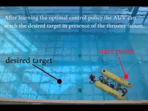 Thruster Failure Recovery on Autonomous Underwater Vehicle. The learning approach is able to discover new control policies to overcome thruster failures as they happen, using a model-based direct policy search algorithm.