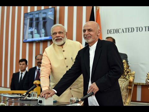 PM Modi & President Ashraf Ghani at the Joint Inauguration of Salma Dam in Afghanistan