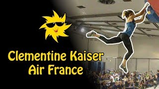 Clementine Kaiser, Air France | Sunday Sends by OnBouldering