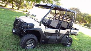 9. Kawasaki Mule Pro FXT Ranch Edition, six seater, warn Winch
