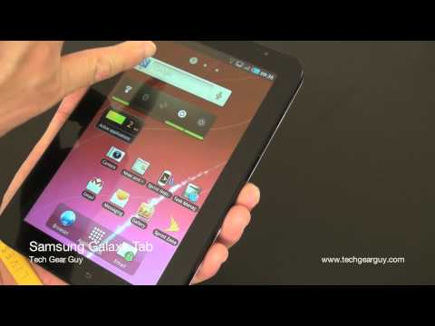 techgearguy - Here's a video review of the Samsung Galaxy Tab. One I have is the Sprint version with white back.