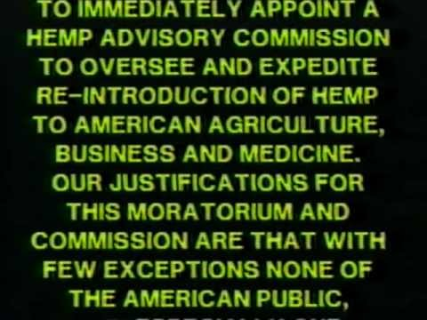 CRRH - This 1989 video, produced by the political action group H.E.M.P. (Help Eliminate Marijuana Prohibition), calls for the U.S. Government to establish a Hemp Ad...