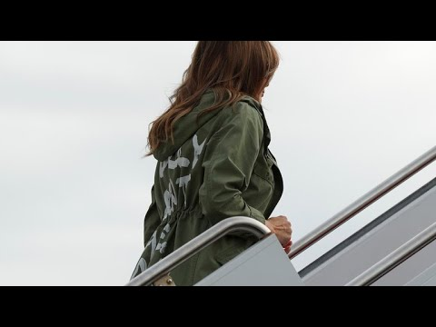 """Melania Trump dons jacket that reads """"I really don't care. Do u?"""""""