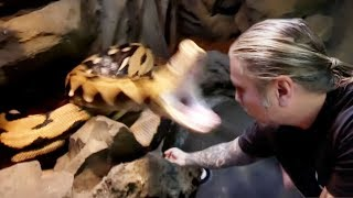 20 FOOT SNAKE (LUCY) BITE!! SCARY!! | BRIAN BARCZYK by Brian Barczyk