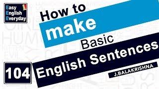 Video How to make basic English sentences  how to learn sentences in English  Easy English Everyday MP3, 3GP, MP4, WEBM, AVI, FLV April 2018
