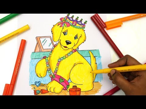 colouring Lisa Frank Donuts & Dogs | colouring Book Page | Colored Markers