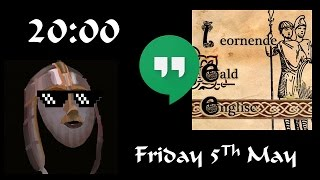 Welcome everyone to my discussion I'll be having with my good friend from Leornende Eald Englisc! If Anglo-Saxon, Early...