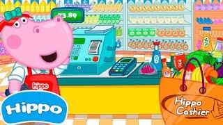 Jogos de meninas - Hippo  Loja infantil  Supermercado Caixa  Jogo de desenhos animados para crianças