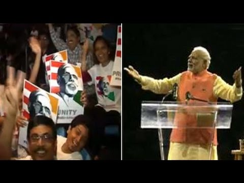 madison - Prime Minister Narendra Modi, in a saffron jacket, got a full-house reception on Sunday at New York's Madison Square Garden, a venue that rock stars dream of packing with a sell-out audience....