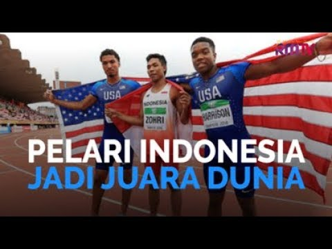 Pelari Indonesia Jadi Juara Dunia