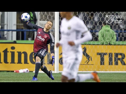 Video: Jeff Attinella | Sounders vs. Timbers | 2018 Audi MLS Cup Playoffs | Nov. 8, 2018