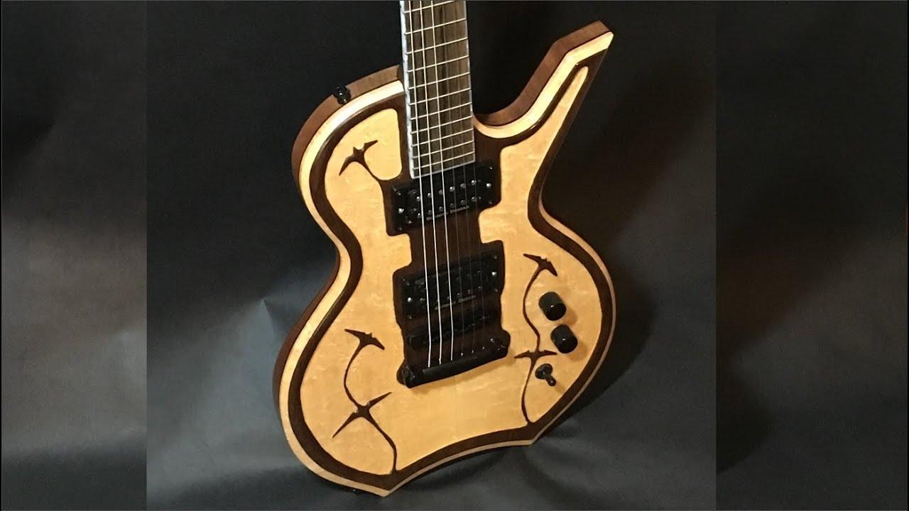 Handmade Electric Guitar Body Build – Birdseye Maple/Walnut (Full Build)