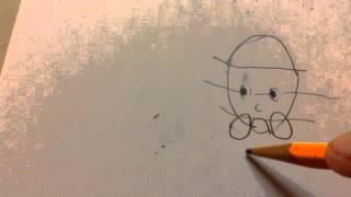 How to draw Japanese cartoon girl