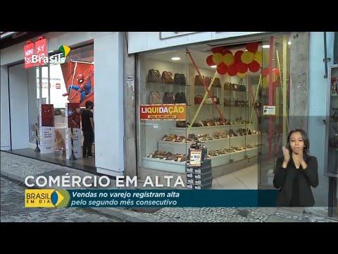 Varejo registra alta pelo segundo mês consecutivo