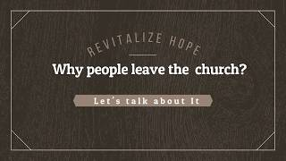Why People do not go to Church