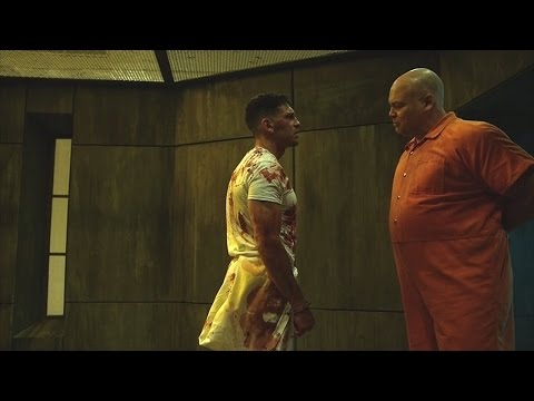 The Punisher & Wilson Fisk - Fight Scene (In the Prison) | Daredevil 2x09 | 2016 (HD)