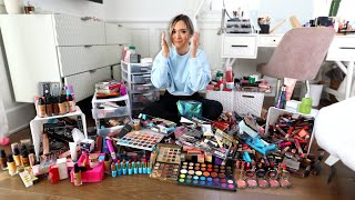 Cleaning Out My ENTIRE Makeup Collection.. *i got rid of it all by Alisha Marie