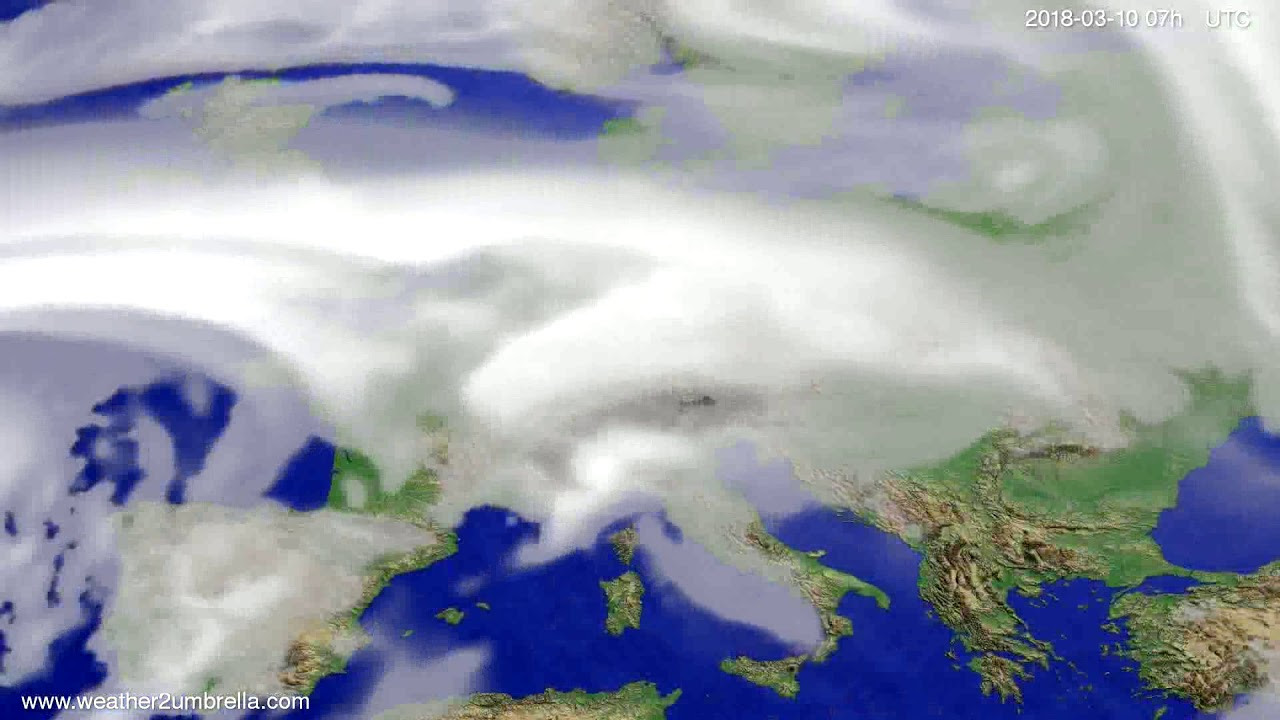 Cloud forecast Europe 2018-03-06