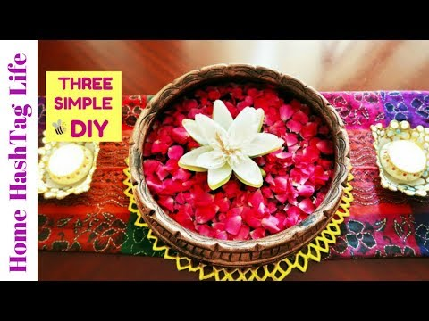 Diwali Home / Room Decoration Ideas & 3 Simple Easy DIY Ideas | 2017