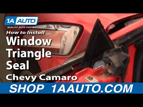 How To Install Remove Window Triangle Seal 82-92 Chevy Camaro IROC-Z Pontiac Trans Am 1AAuto.com